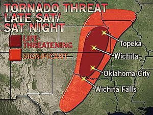 Tornado-outbreak-map