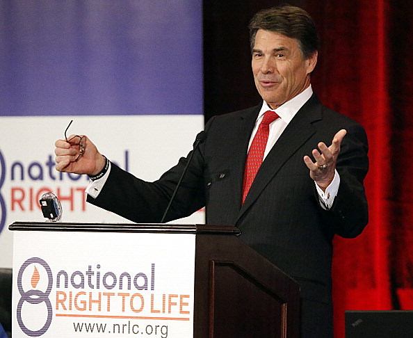 Texas Governor Rick Perry speaks to National Right to Life Convention