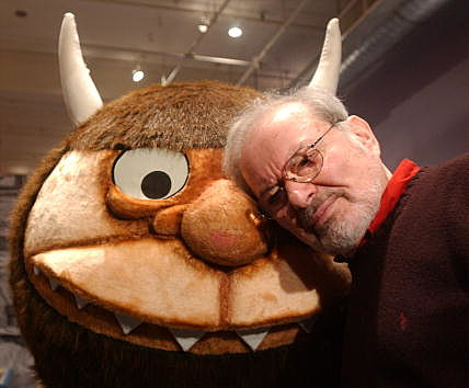 Maurice Sendak with Wild Thing