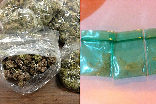 Marijuana & Methamphetamine seized during traffic stop on July 17, 2013 Courtesy: Wichita Falls Police Department