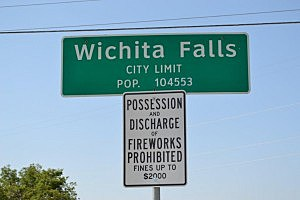 Wichita Falls City Limits Fireworks Prohibited - ©Townsquare Media