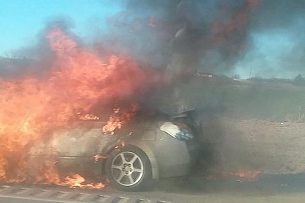 Car fire Hwy 287 Wichita Falls