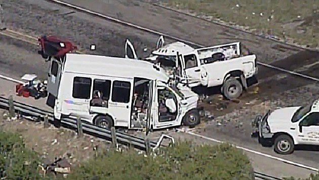 fatal bus, truck accident Uvalde County Texas