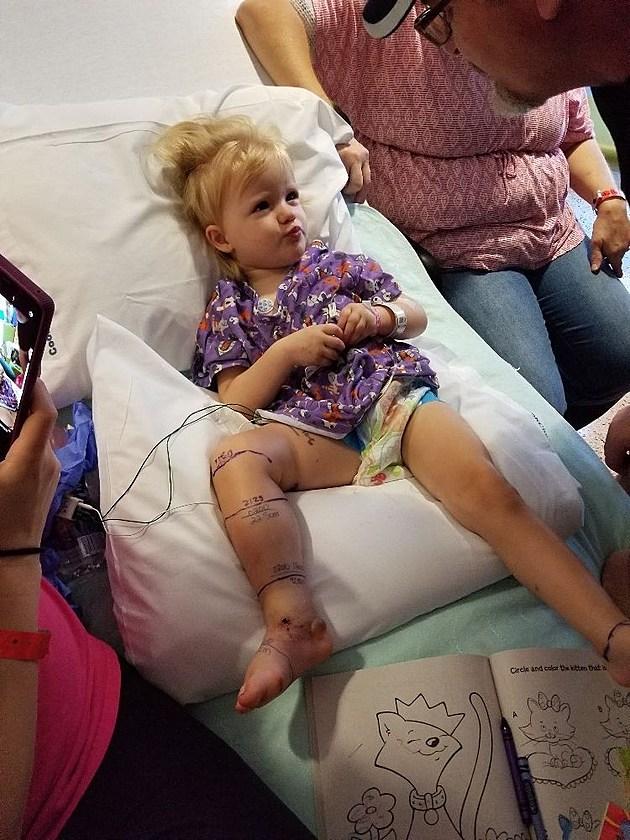 Little girl bitten rattlesnake Wichita Falls Brenli Sharp